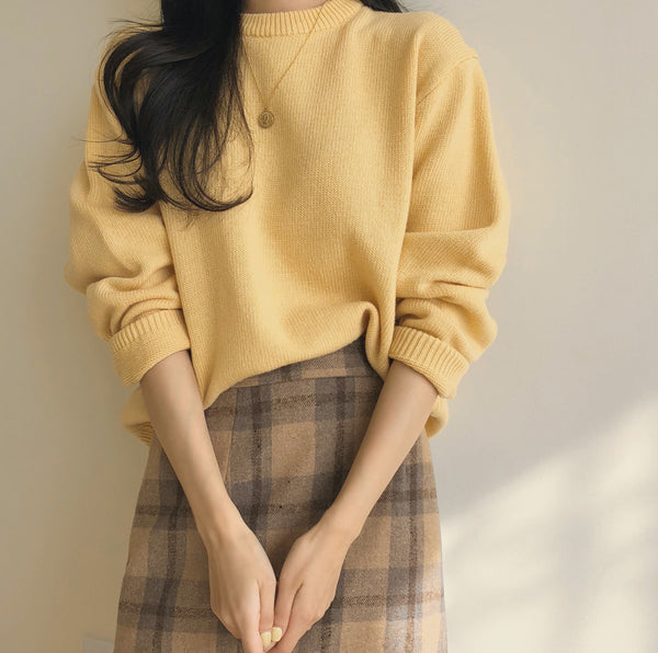 lemon simple knit