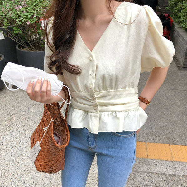 waist mark peplum blouse