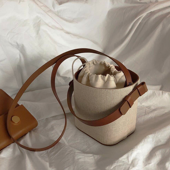 natural materials basket bag