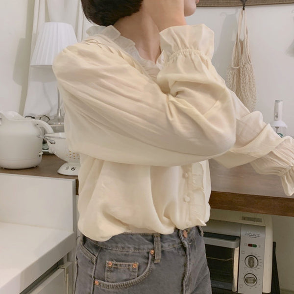 ruffle sweet blouse