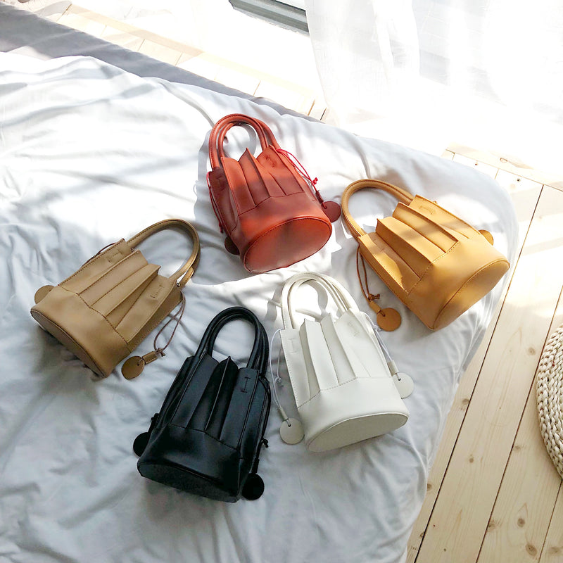 pleated 2way bag