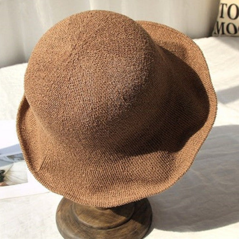 linen simple bucket hat