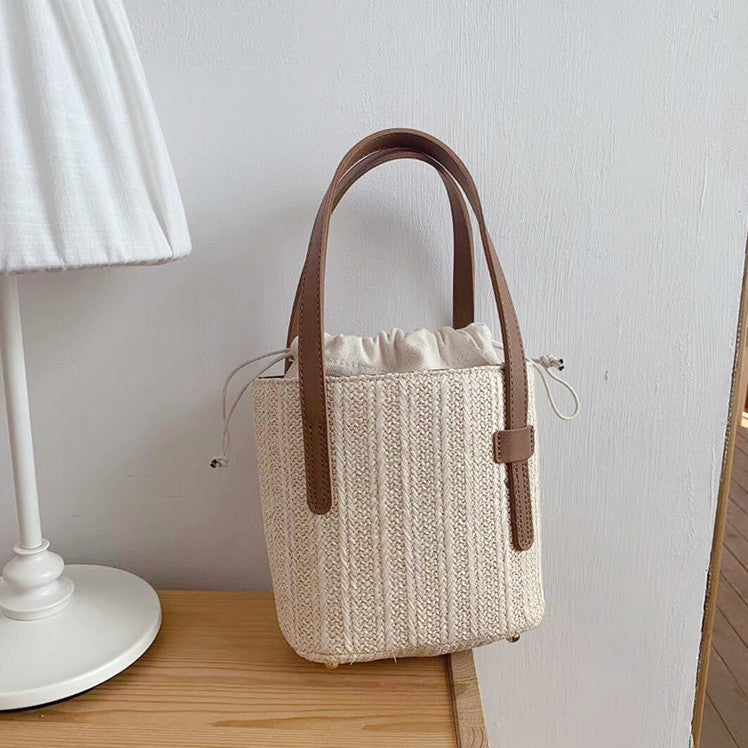 straw simple basket bag