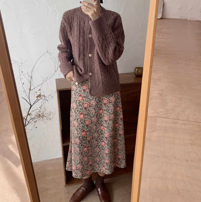 rose lady long skirt