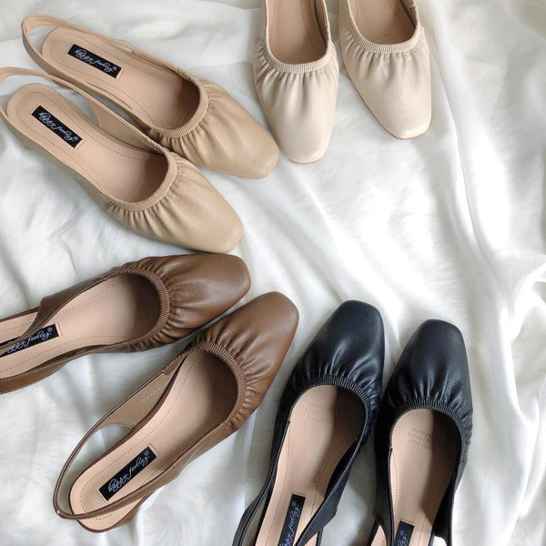 gather flat mules