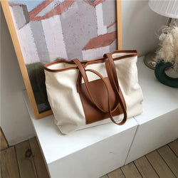 pocket canvas tote bag