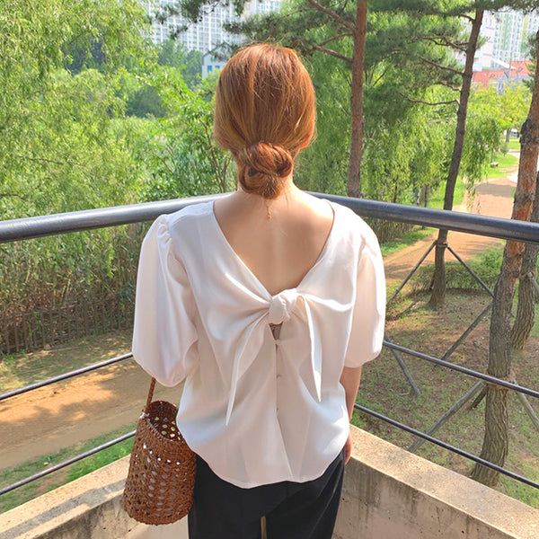 2way ribbon blouse