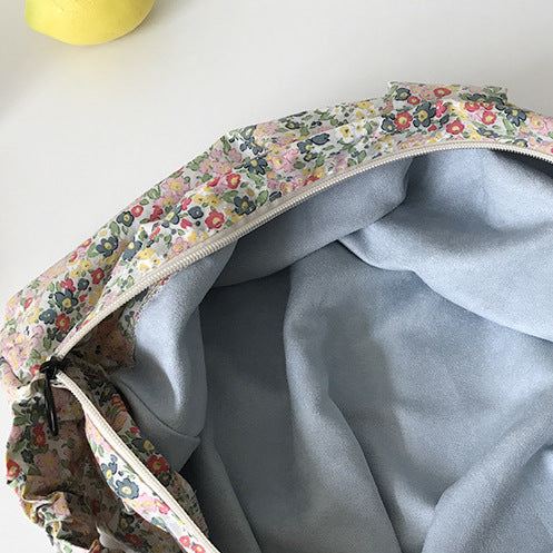 flower crescent moon bag