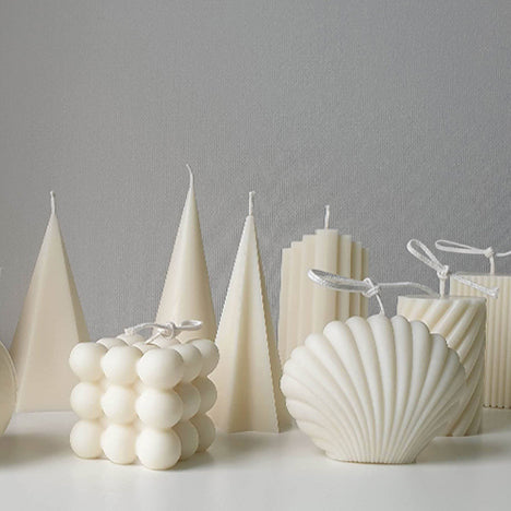shell design candle