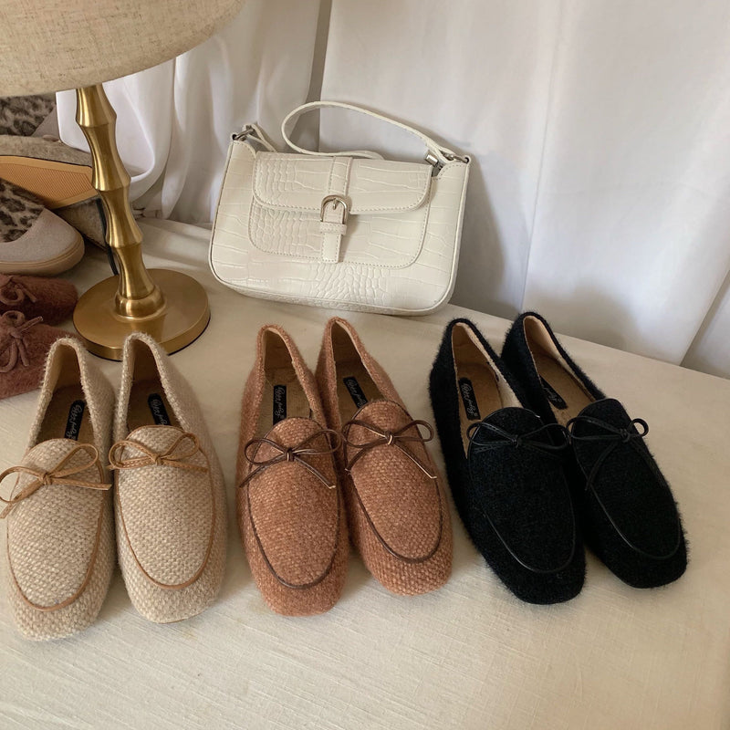 natural flat shoes