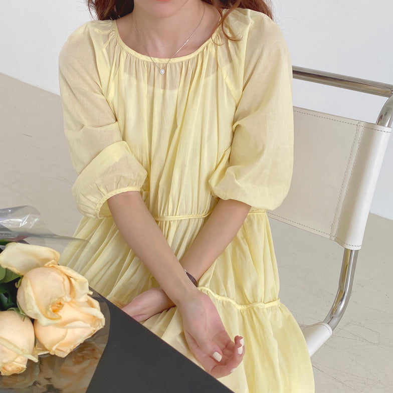 【GW限定アイテム】gather lemon color onepiece