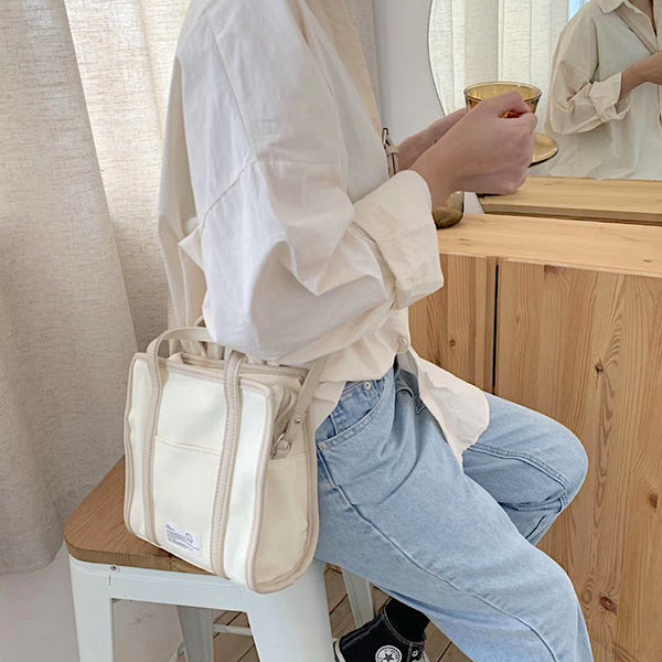 square canvas fabric bag