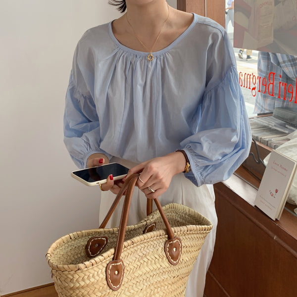 loose puff sleeve blouse