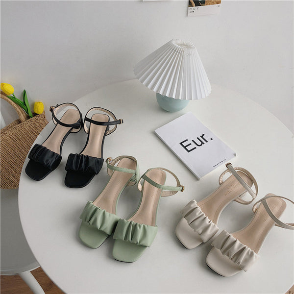 gather strap sandal