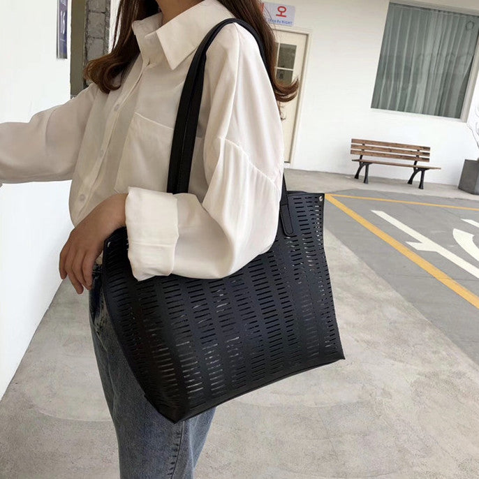mesh big tote bag