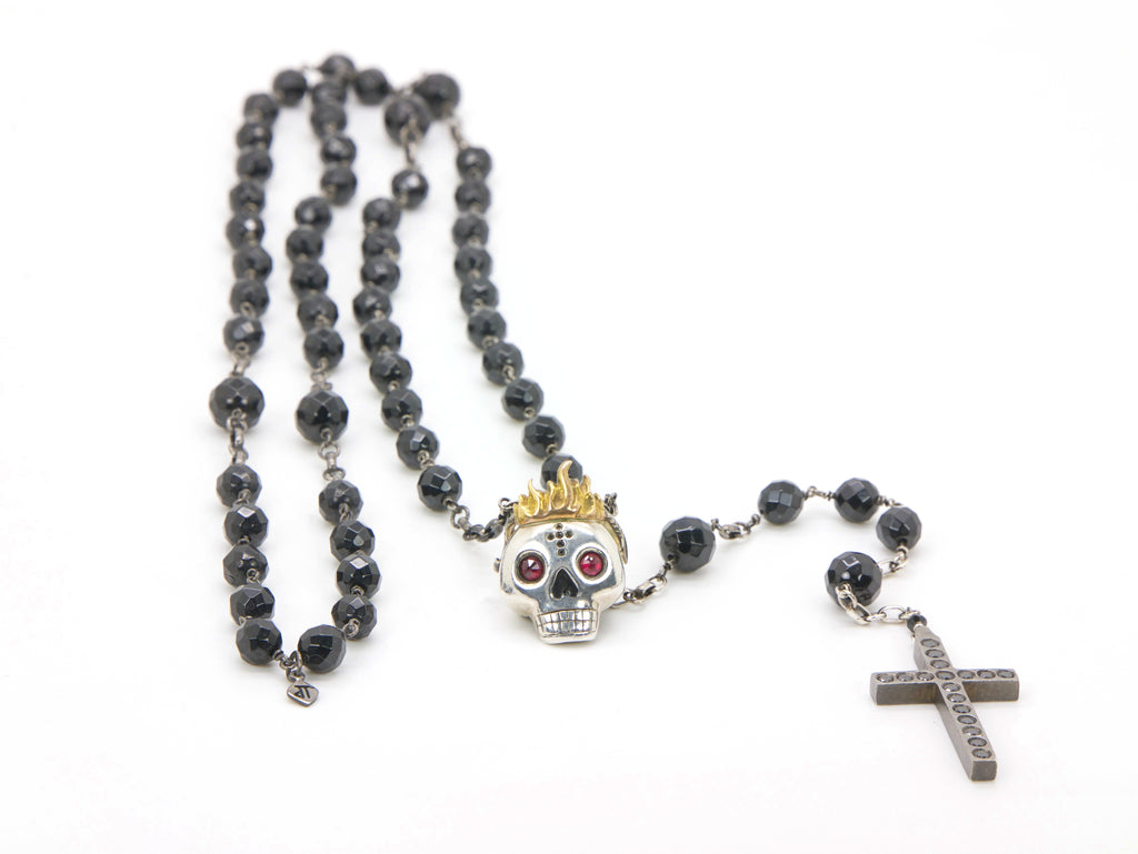 HOLY YOLO ROSARY in black