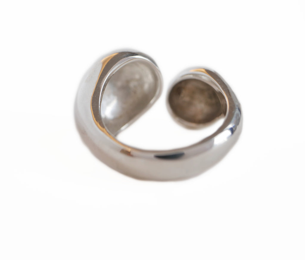 Double Bubble Ring in Silver