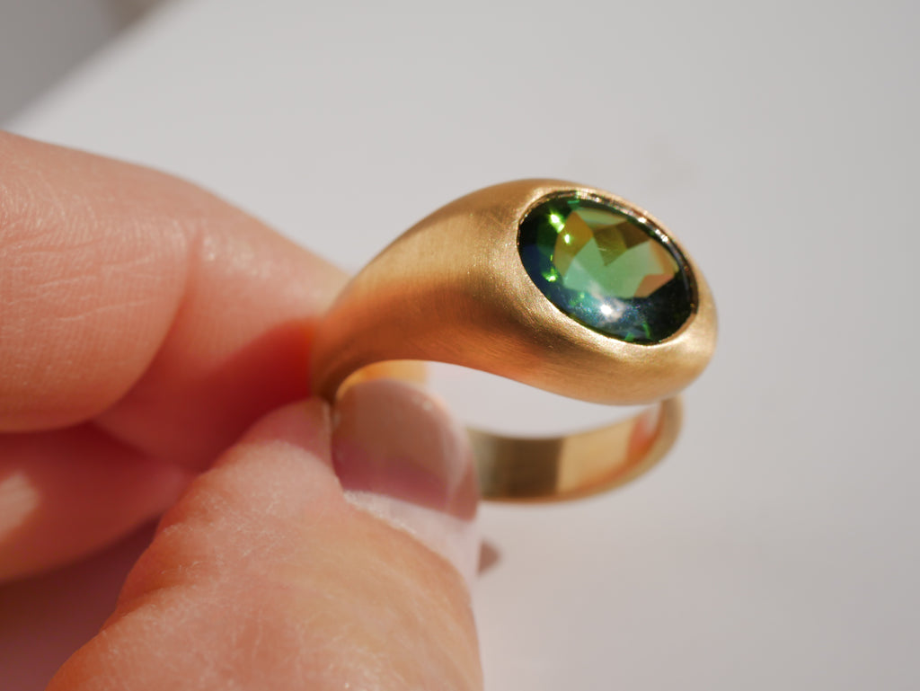 Gem Bubble Green Tourmaline & 18K Gold