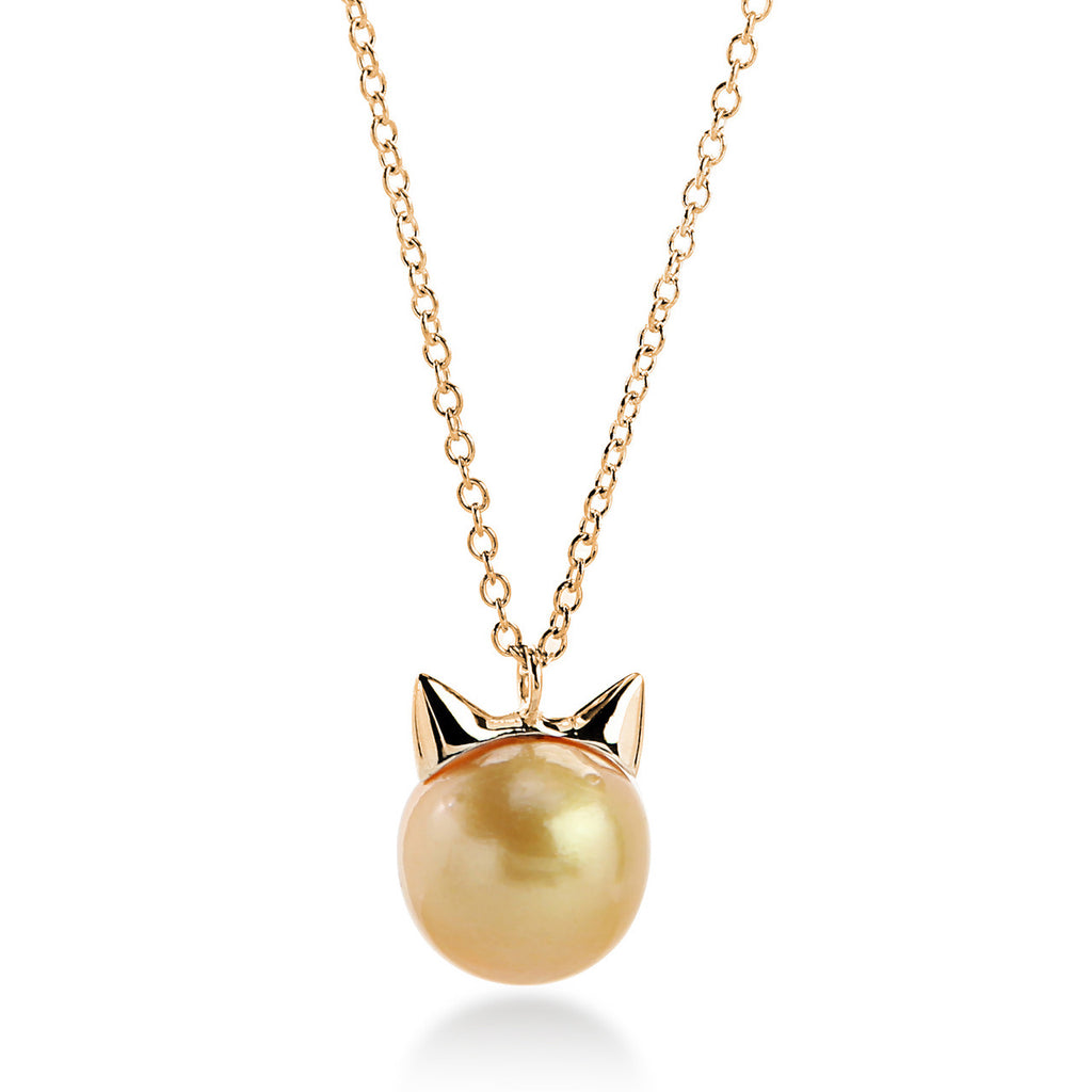 Love Bug Yellow Tahitian Pearl Necklace
