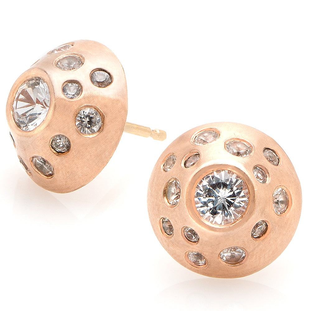 Orbit diamond earrings