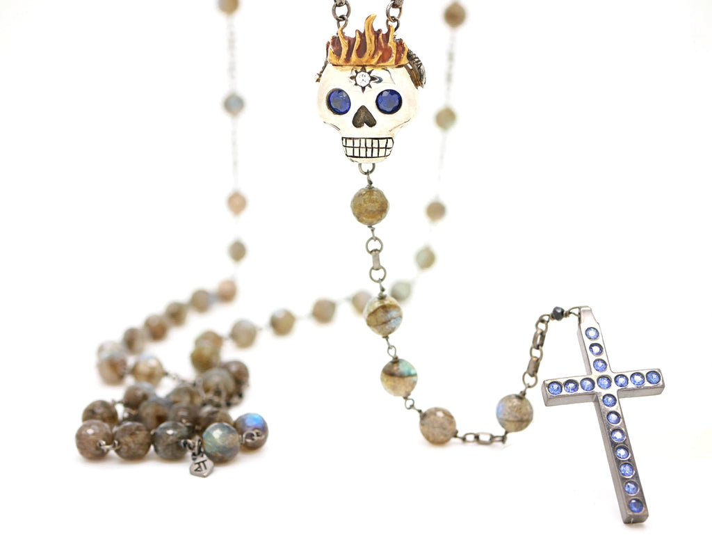 HOLY YOLO ROSARY in blue
