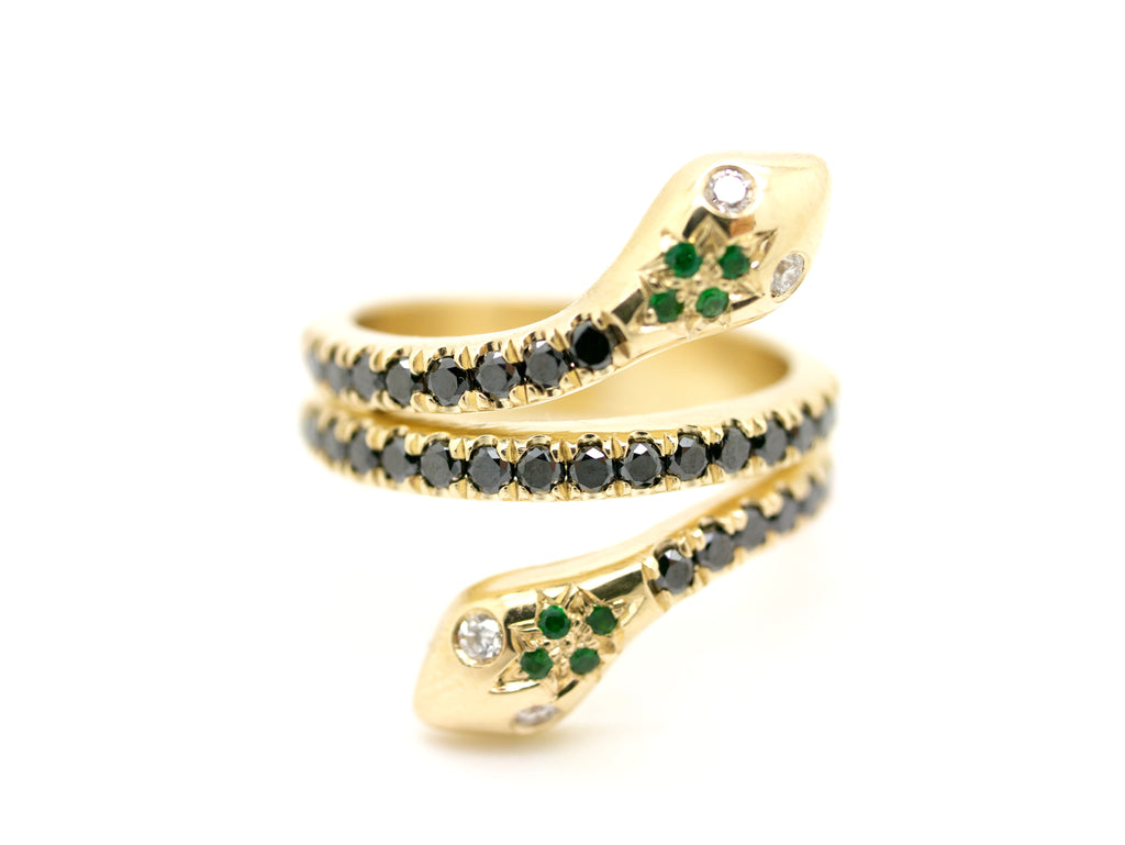Snake Ring Black/Green/White