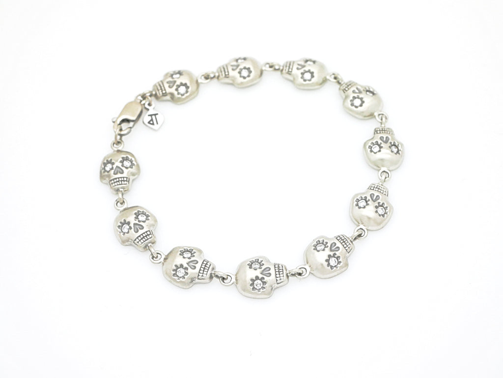YOLO Skull bracelet with diamonds