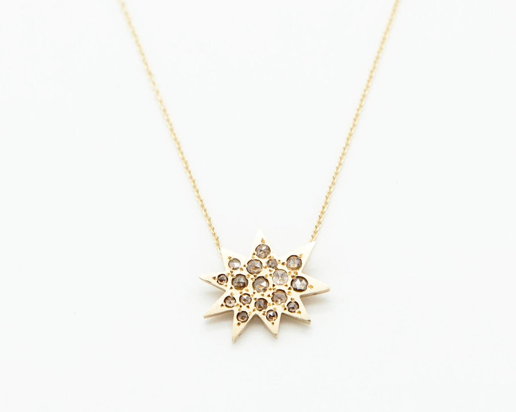 Starburst Necklace in Champagne Diamonds