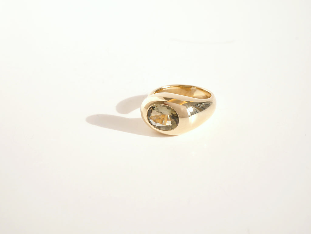 Gem Bubble Taupe Tourmaline & 10K Gold