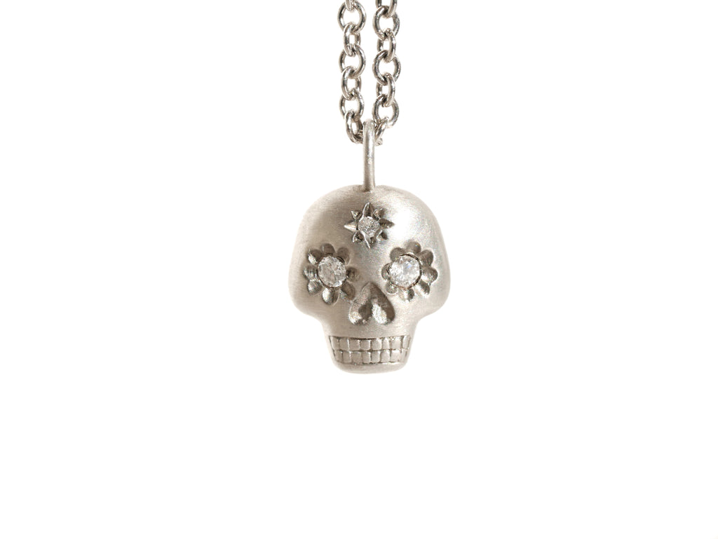 Yolo Skull Necklace White Gold