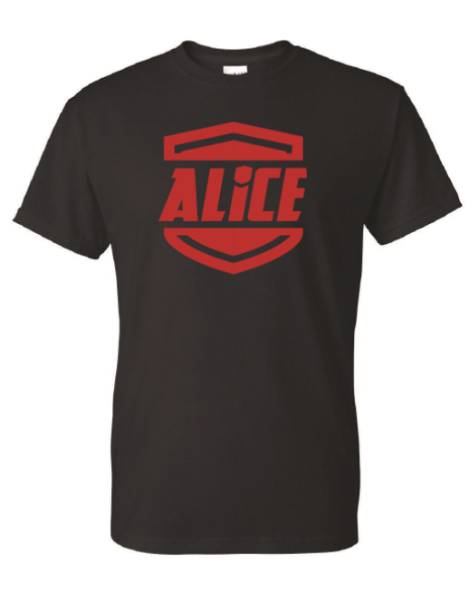 "ALICE ""Shield"" 2-Sided T-Shirt - Black"