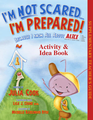 "2 Book Set - ""I'm Not Scared...I'm Prepared!"" and ""I'm Not Scared"" Activity & Idea Book"