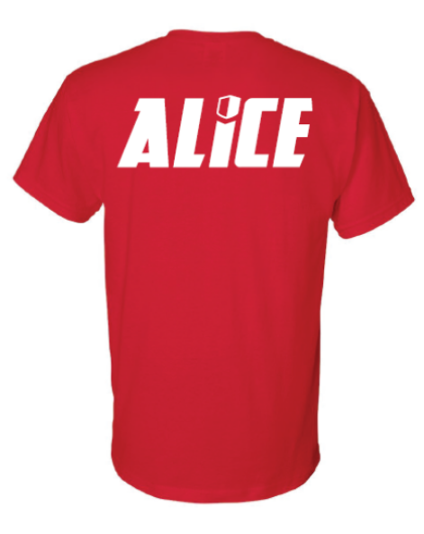 "ALICE ""A"" 2-Sided T-Shirt - Red"