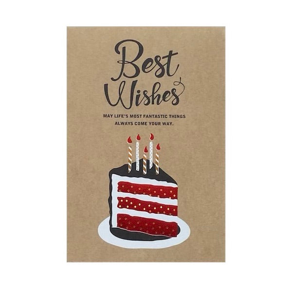 Best Wishes CAKE SLICE Card