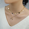 Double Horn Choker Necklace