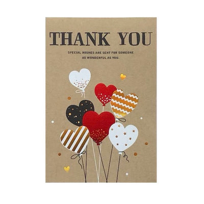 Thank You HEART BALLOONS Card