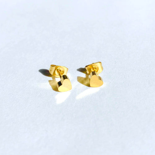 Mini Heart Stud Earrings