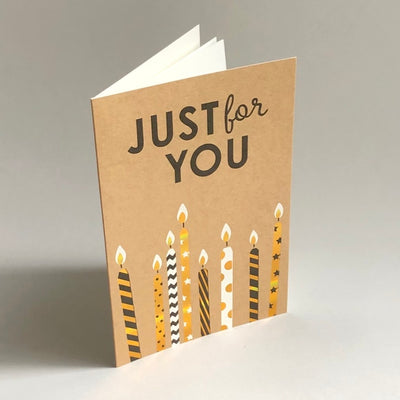 Just for You SET OF CANDLES Card