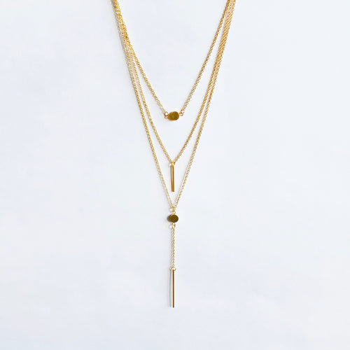 Three Layer Drop Necklace