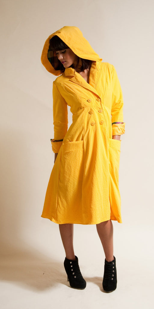 raincoat waterproof jacket created by independent designer Lizz Basinger in Portland, Oregon USA