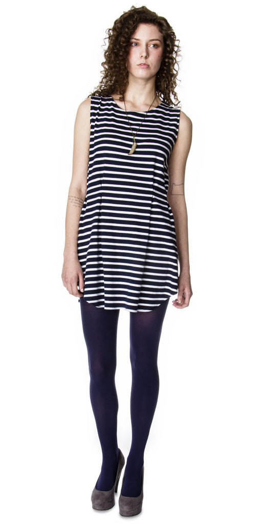 Pleated Knit Sailor Tunic Front