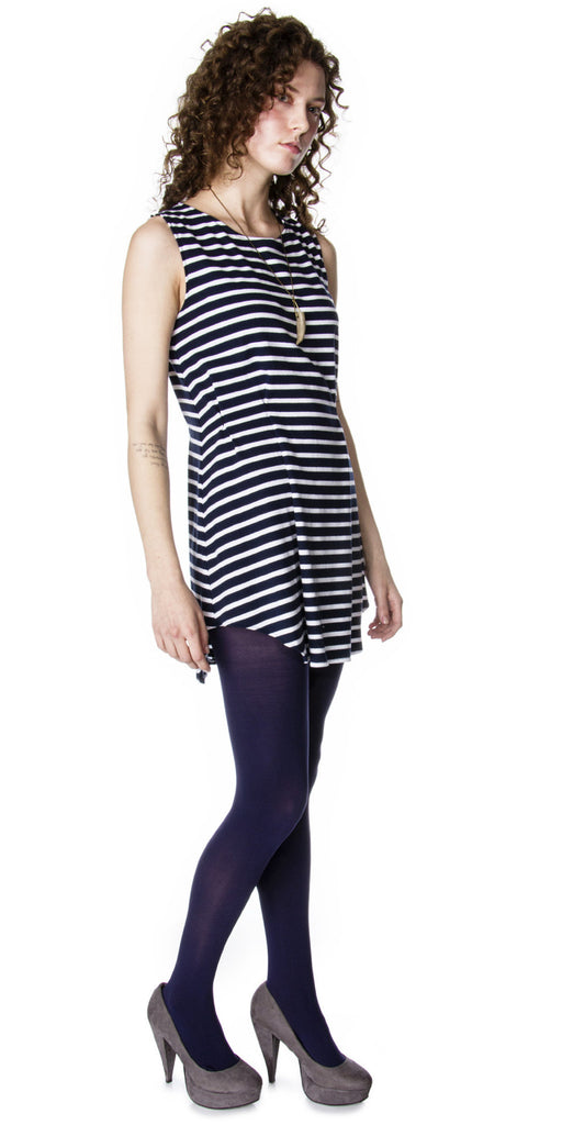 Pleated Knit Sailor Tunic Side