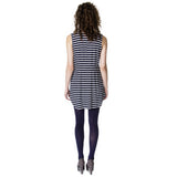 Pleated Knit Sailor Tunic Back