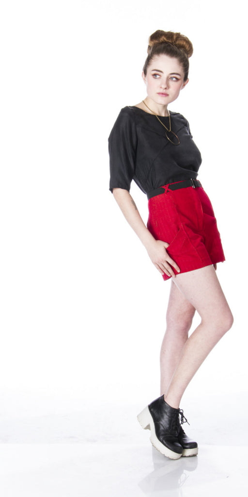 Lizz Basinger designs architects high waisted shorts 3/4