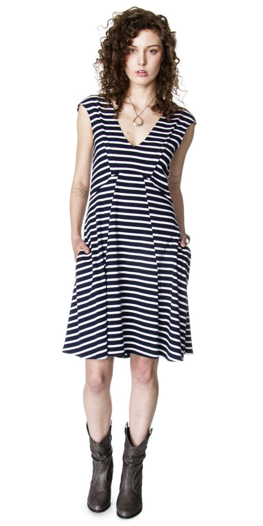 Lizz Basinger Bent dart A-line Dress front view