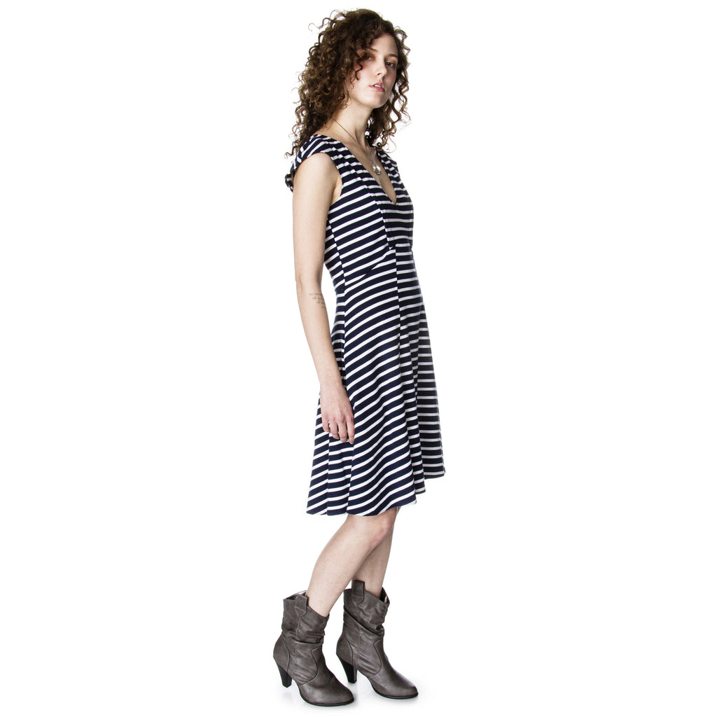 Lizz Basinger Bent dart A-line Dress side view