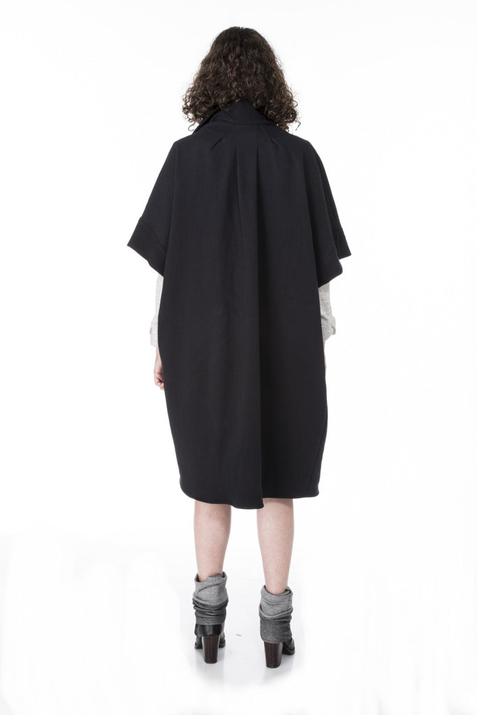 cocoon sweater with scarf and dolman sleeves high fashion with intricate pleating detail