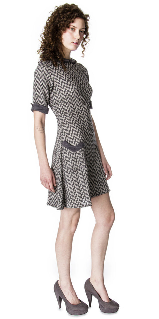Lizz Basinger Mod A-line Dress Side