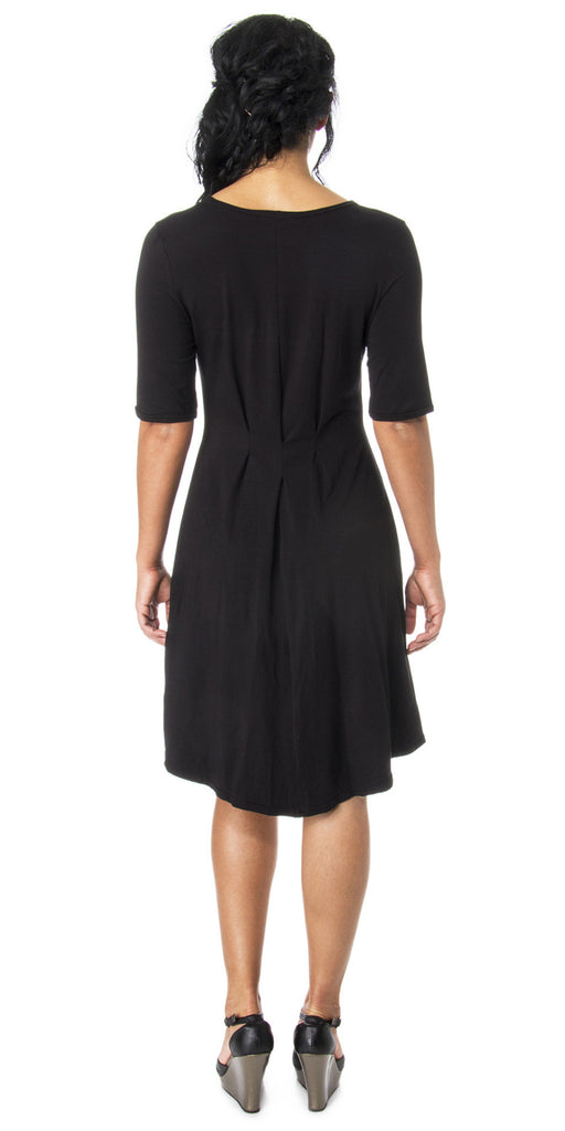 Lizz Basinger Pleated Hi-low dress back