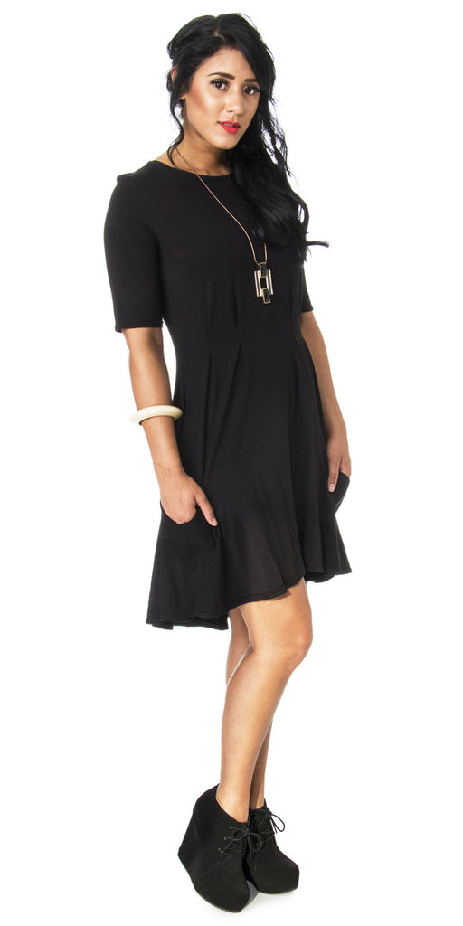 Lizz Basinger Pleated Hi-low dress side 2